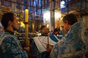 Всенощное бдение с чином погребения Пресвятой Владычицы нашей Богородицы и Приснодевы Марии 2013 год