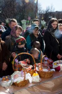 Великая суббота. Освящение куличей и пасок. 11 апреля 2015 года.