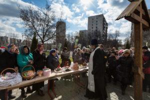 Великая Суббота. Освящение куличей и пасок. 15 апреля 2017 года.
