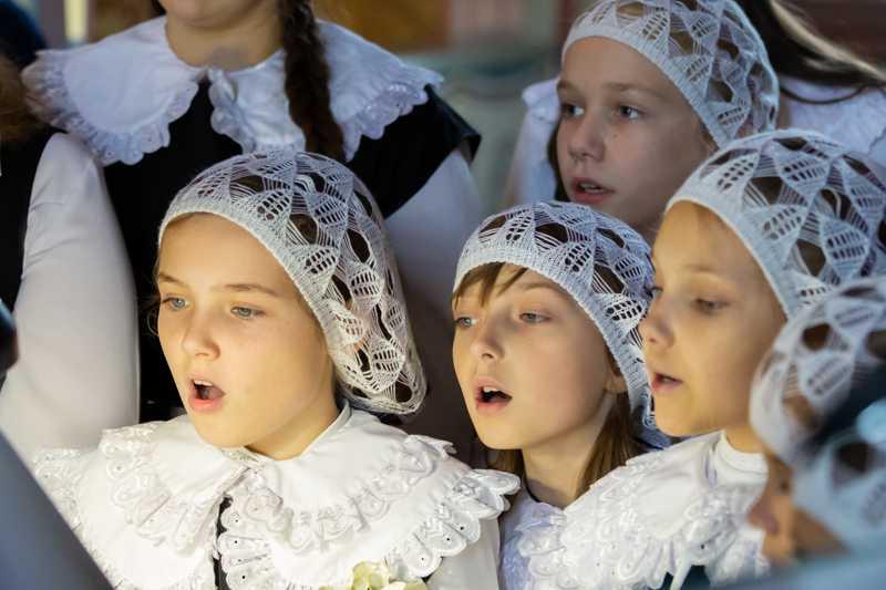 В воскресной школе «Радовесть» отметили престольный праздник проведением детской литургии.08 октября 2018 года.