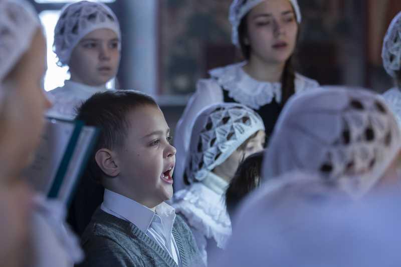 """Рождество Христово. Пение детского хора """"Радовесть"""". 07 января 2019 года."""