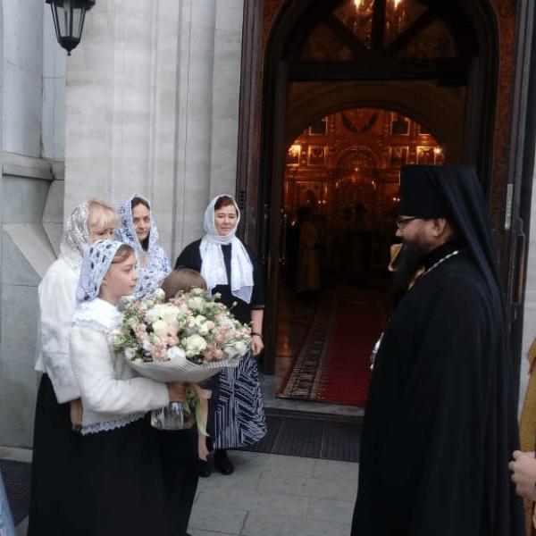 Управляющий викариатством архиепископ Егорьевский Матфей посетил Храмовый комплекс