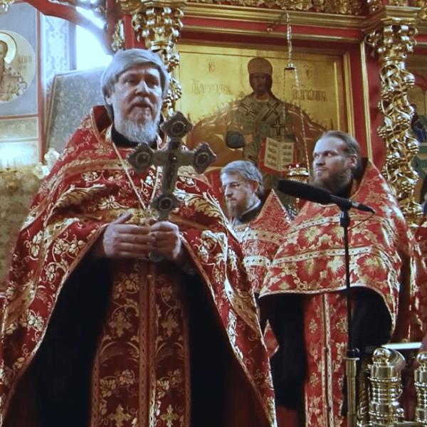 Поздравление отца настоятеля протоиерея Виктора Сандара и семинаристов Перервинской духовной семинарии