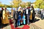 Глава Казахстанского митрополичьего округа заложил храм Казанской иконы Божией Матери в Рудном и освятил место строительства духовно-просветительского центра Костанайской епархии